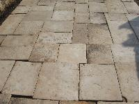 BOURGOGNE PIERRE ANCIENS ANCIEN ANCIENNES DALLAGE DALLE BOURGOGNE PLANCHER PAVE' TILE FLOORS ANCIENT LIMESTONE FLOORING OF RECOVERY OLD STONE CUT TO 3 CM. THICKNESS(STOCK FOR SALE).