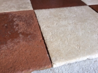 ANTIQUE RECLAIMED STONE FLOOR OF STONE AND TERRACOTTA, THICKNESS 2 CM ,WIDTH CM 33x33,(12,99 inc.) OTHER STOCKS OF OTHER COLORS AND SIZES AVAILABLE IN FORTE DEI MARMI,FOR OTHER INFORMATION DON