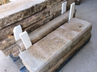 ANTIQUE RECLAIMED BORDER,RECYCLED FRENCH LIMESTONE FOR BORDERS OF GARDENS OF ANTIQUE VILLAS, SIXE: DEPTH 35 CM ( 13,8 inc.)HEIGHT 12 CM ( 4.7 inc )VARIABLE LENGTHS , STOCK FOR SALE