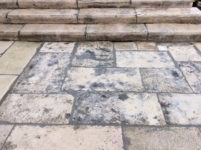 ANTIQUE RECLAIMED STAIRCASES,RECYCLED FRENCH LIMESTONE FOR BORDERR OF GARDENS OF ANTIQUE VILLAS, SIZE: DEPTH 35 CM ( 13,8 inc.)HEIGHT 12 CM ( 4.7 inc )VARIABLE LENGTHS , STOCK FOR SALE.