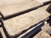 RECLAIMED STEPS OF BOURGOGNE STONE, HAVE GREAT HISTORICAL VALUE, 5 CM THICK. AGE 1800, FOR PIECE ( $ 250 )